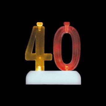 Bougies et Chiffre 40 Led
