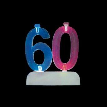 Bougies et Chiffre 60 Led