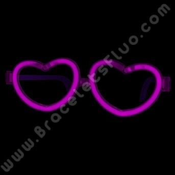 Lunettes Fluo de coeur individuelles (1 u.)