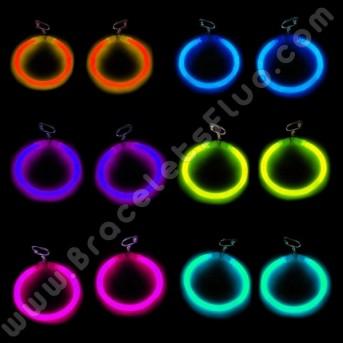 Boucles d'oreille Fluo arrondies (2 u.)