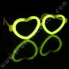 Lunettes Fluo de coeur individuelles