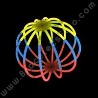 Sphères Fluo Tricolores (8 u.)