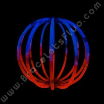 Sphères Fluo Bicolores (8 u.)
